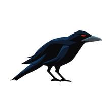 Halloween Dark Crow Bird Icon