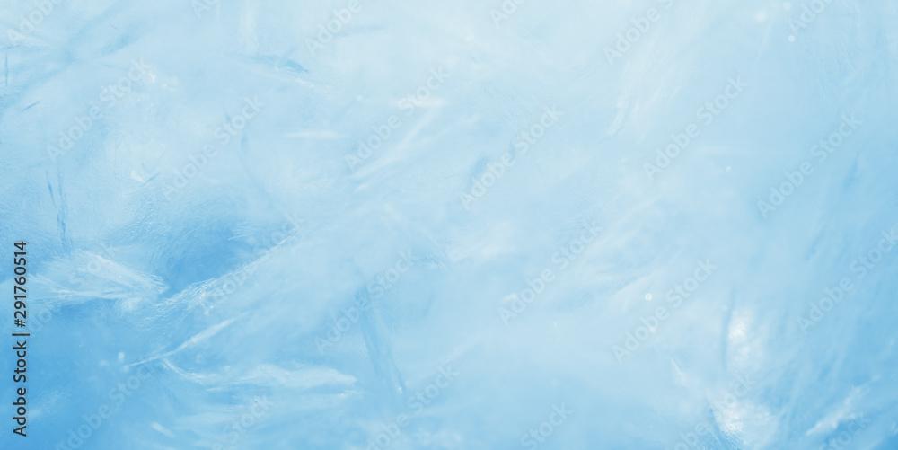Fototapeta blue frozen texture of ice
