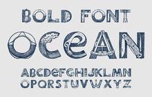Decorative Marine Alphabet In ...