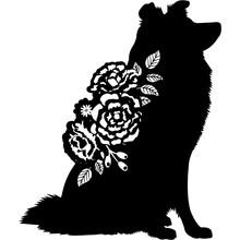 Shetland Sheepdog Dog Silhouet...