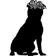Staffordshire Bull Terrier Dog Silhouette Vector