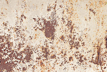 Sheet Metal Surface With Traces Of Rust And Paint Residues