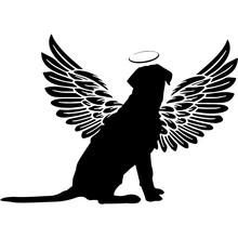 Pet Memorial, Angel Wings Labrador Retriever Dog  Silhouette Vector