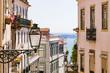 Gasse, Stadtviertel Alfama, Altstadt, Fluss Tejo, Lissabon