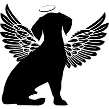 Pet Memorial, Angel Wings Beag...