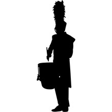 Drum Corps Silhouette Vector