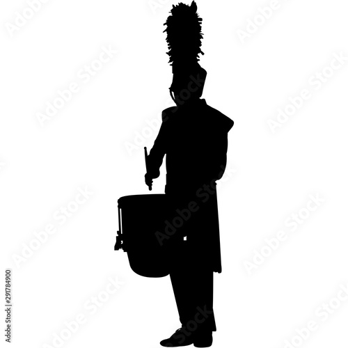 Photo Drum Corps Silhouette Vector