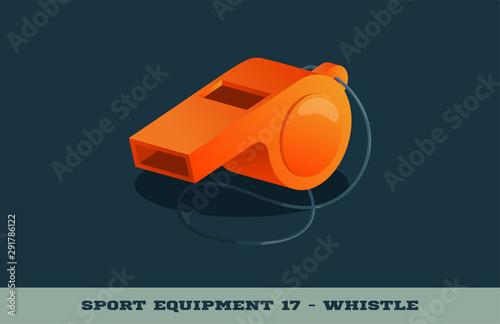 Vector orange whistle icon Wallpaper Mural