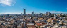 Panoramic Aerial View Of City ...