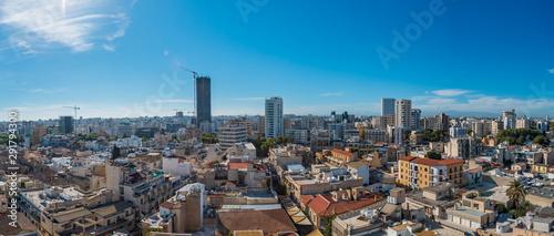Fotografiet Panoramic aerial view of city Nicosia Cyprus