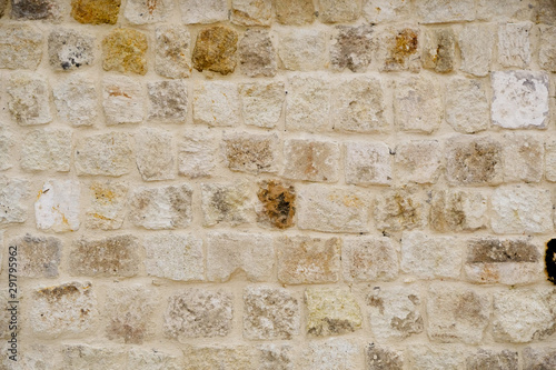 Poster Asia Country old stone wall background