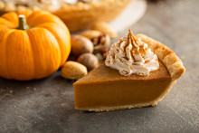 Traditional Pumpkin Pie Topped...