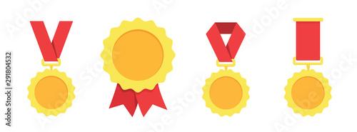 Fotomural Gold, silver, bronze medal