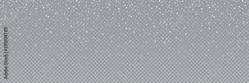 Fototapeta Seamless falling snow or snowflakes. Isolated on transparent background - stock vector. obraz