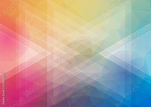 Obraz Flat awesome horizontal background with triangle shapes for web design - fototapety do salonu