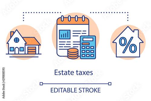 Estate taxes concept icon Wallpaper Mural