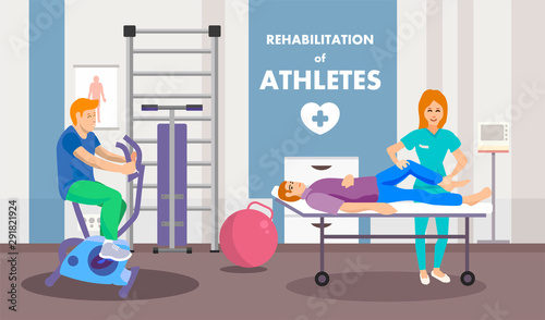 Tableau sur Toile Rehabilitation Program after Injury Advertisement