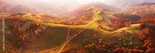 Carta da parati Autumn mountain panorama