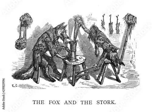 Photographie  Aesop's Fables - The Fox And The Stork