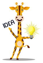 Giraffe Having Idea Illustrati...