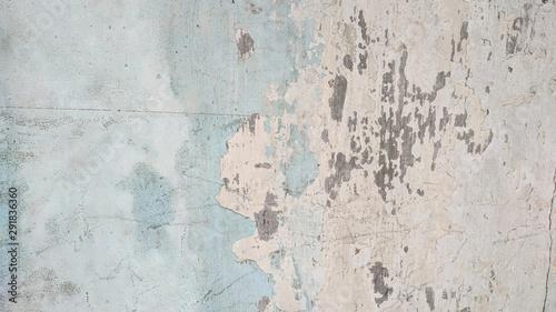Deurstickers Oude vuile getextureerde muur Blue paint scratch old concrete wall texture, use as background or wallpaper