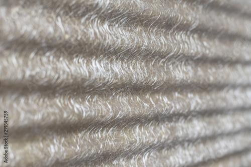Photo Selective focus of Pattern on  fiberglass roof sheet