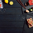 Leinwanddruck Bild Japanese sushi rolls