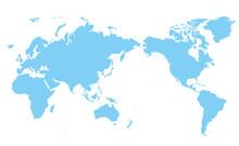 世界地図 高画質ベク...