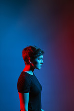 Neon Lights Portrait.