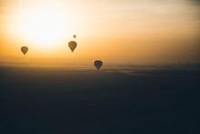 Hot Air Ballons At Dawn