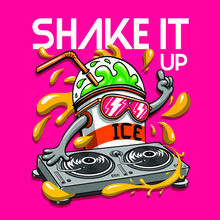 Crazy Milkshake Character Illustration Graphic Design