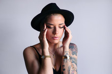 Stylish Woman With A Hat