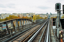 Bir-Hakeim Metro Station In Paris, France