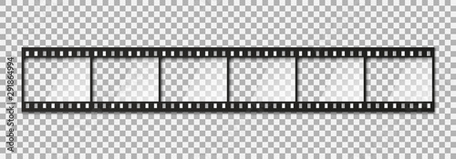 Fototapeta Six frames of classical 35 mm film strip. obraz