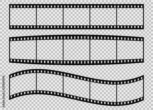 Five frames of classical 35 mm film strip. #291864996