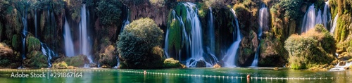 Panorama of Kravica waterfalls  . Bosnia and Herzegovina - 291867164