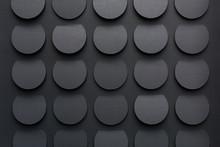 Dark Gray Circular Background