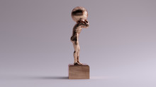 Bronze Atlas Statue Holding Up...