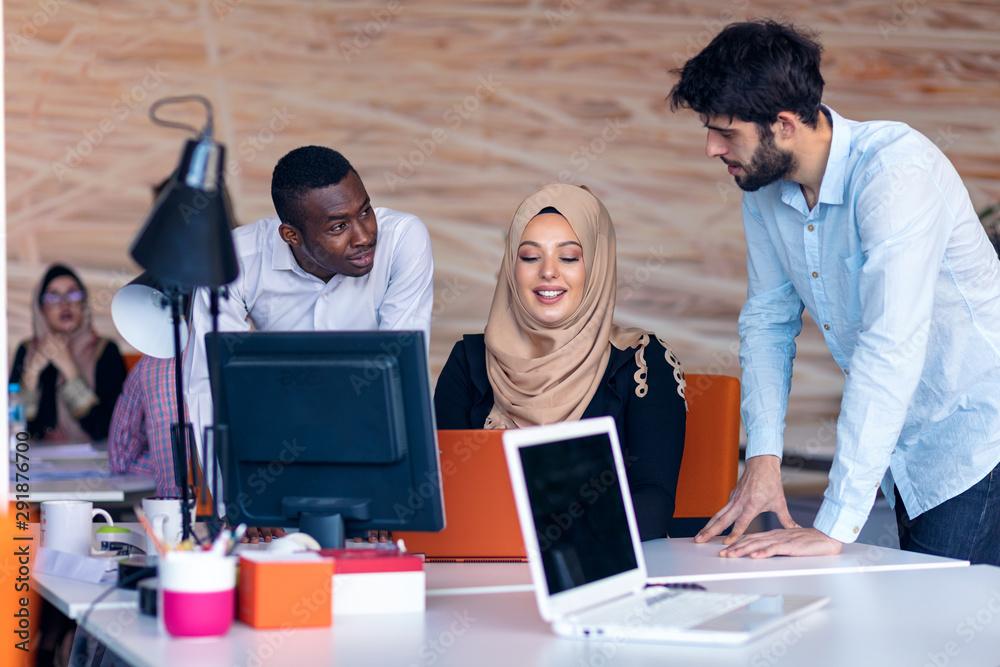 Fototapeta Designer Teamwork Brainstorming Planning Meeting Diversity Concept