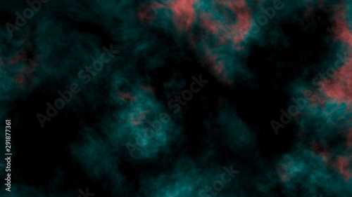 Abstract green, red smoke. Atmospheric and mystic smoke background.