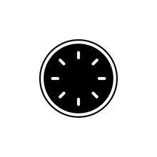 Clock Without Hands Icon. Simp...
