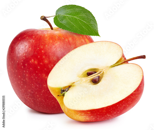 Cuadros en Lienzo  Red apples isolated on white background