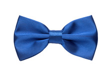 Blue Bow Tie Isolated On White...