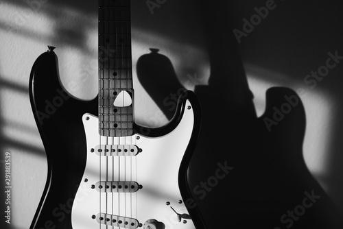 Fotografia, Obraz  Electric guitar with pick