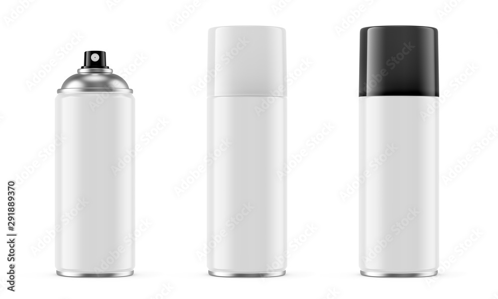 Fototapety, obrazy: White spray paint metal cans isolated on white