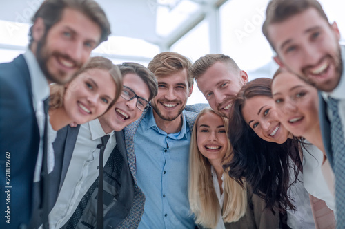close up.a team of young business people looking at the camera. Poster Mural XXL