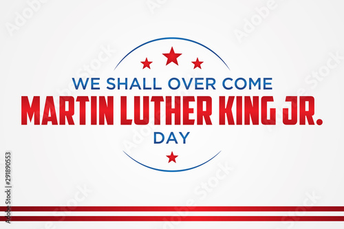Simple letter emblem Martin Luther King Jr Canvas Print