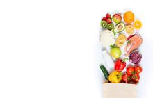 Healthy Food In Paper Bag Frui...