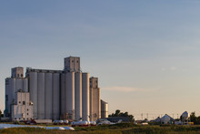 Co-op Silos At Sunset