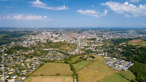 Aerial view of Rodez city in the Aveyron Wallpaper Mural